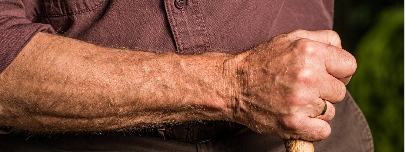 essential oils for the skin - man arm