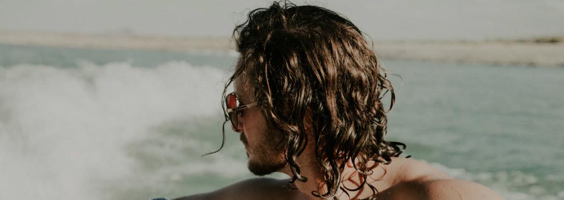 essential oil blends - man hair